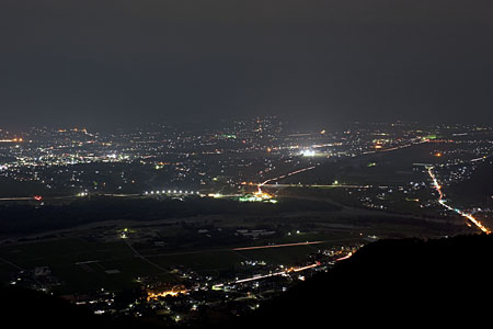長峰山の夜景