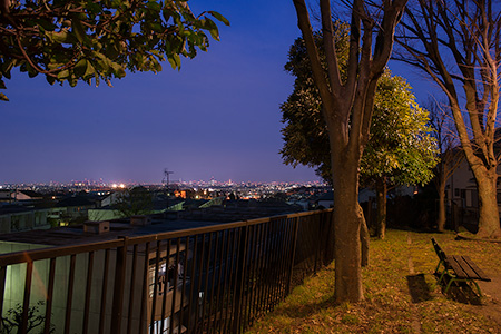 長尾宮前公園の夜景