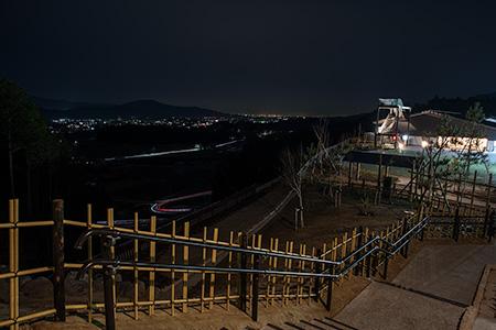 長篠設楽原パーキングエリア(下り)の夜景