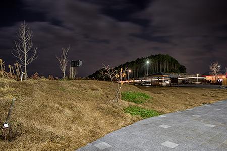 長篠設楽原パーキングエリア(上り)の夜景