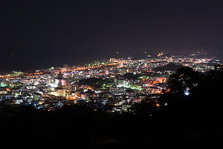 名護中央公園 北展望台の夜景