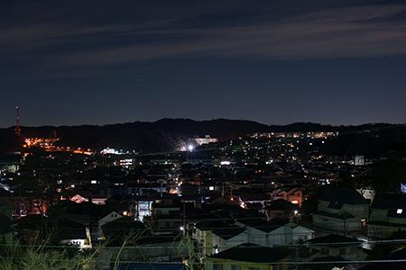 なごみの丘公園の夜景