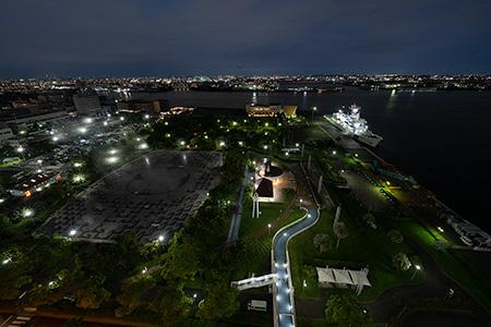 名古屋港ポートビルの夜景