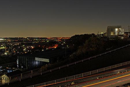 内陸工業団地の夜景