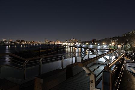 中川奥戸展望デッキの夜景