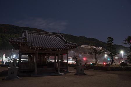 中宝満神社の夜景