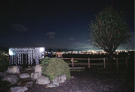 中條景昭像公園の夜景