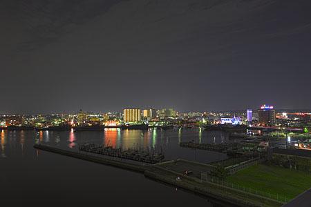 中の島大橋の夜景