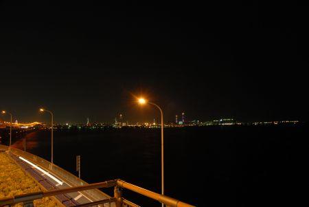 中島PAの夜景