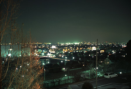 七曲見晴公園の夜景