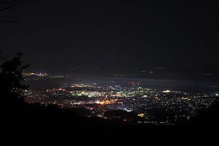 七尾城跡の夜景