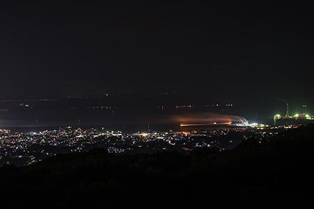 七尾城山展望台の夜景