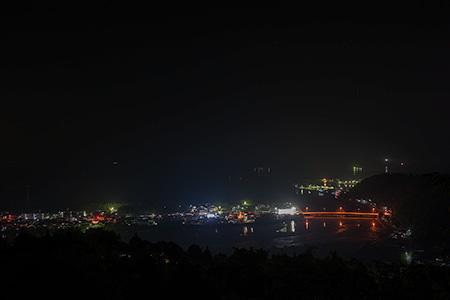 南郷城跡の夜景