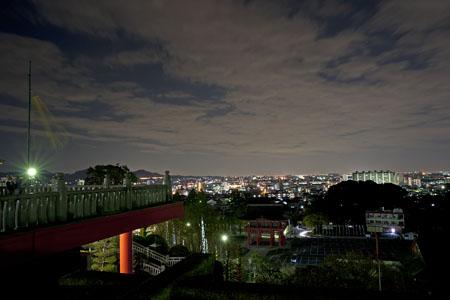 犬山成田山大聖寺の夜景
