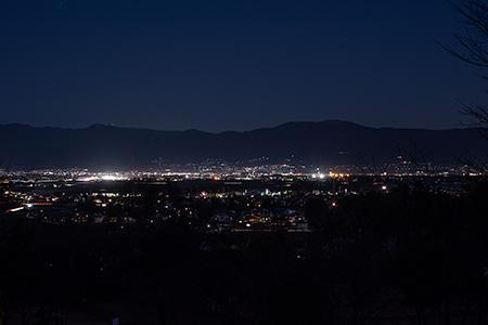 山形なろう原公園の夜景