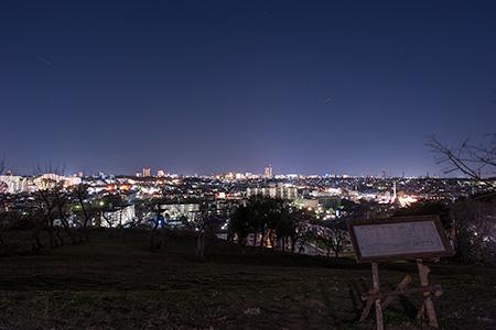 成瀬尾根緑地の夜景