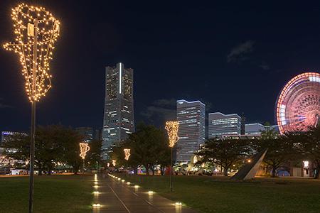 ナビオス横浜の夜景
