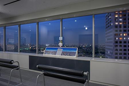 練馬区役所 展望ロビーの夜景