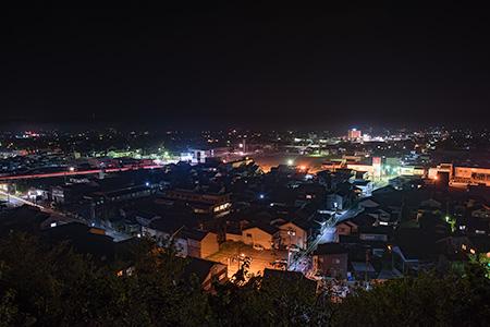 新・朝日山公園 展望広場の夜景