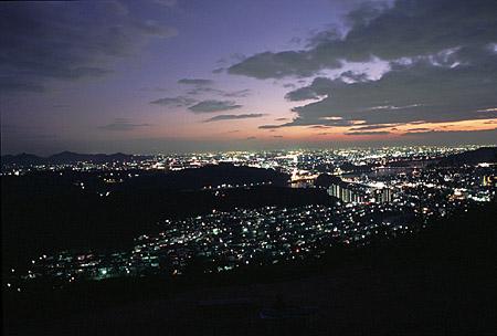 日本ラインうぬまの森の夜景