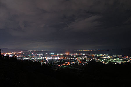 日本平旧道の夜景