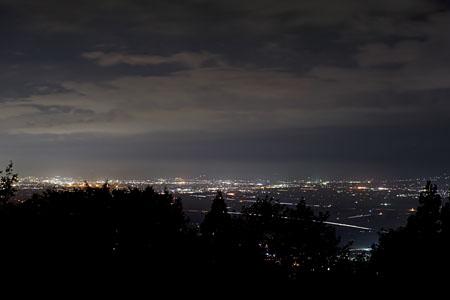新山展望台の夜景