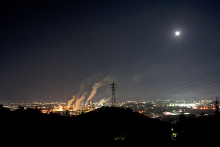 虹ヶ丘配水場の夜景