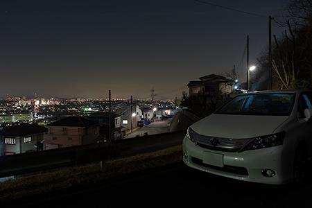 日鉱住宅の夜景