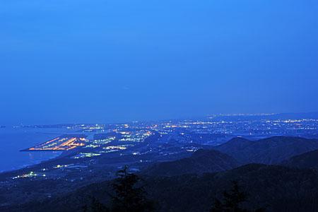 二枚田幹線林道の夜景