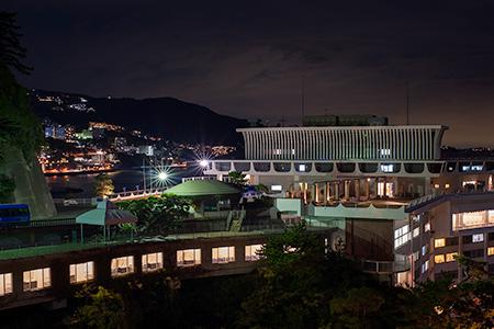 錦崎庭園の夜景
