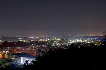 西山公園 展望デッキの夜景