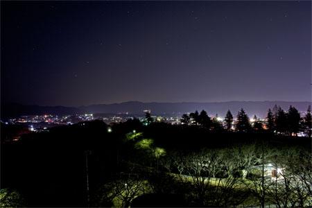 西山公園 展望台の夜景