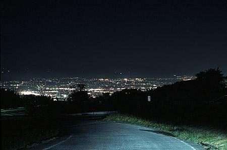 西蔵王公園の夜景