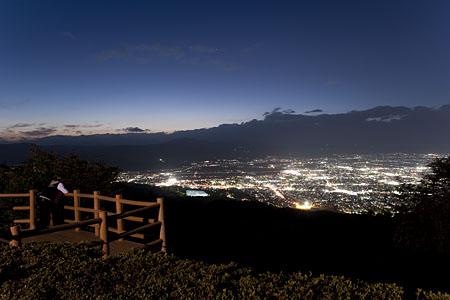 西蔵王公園 展望広場の夜景