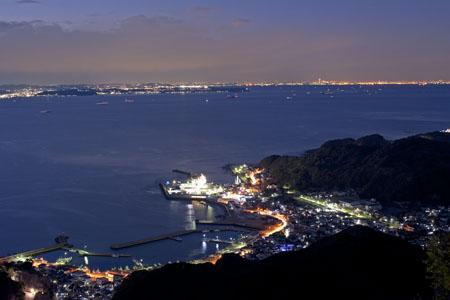 鋸山 山頂駅展望台の夜景