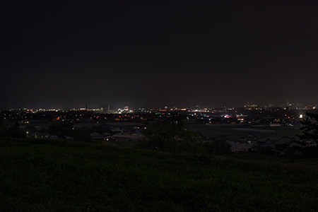 農免道路の夜景
