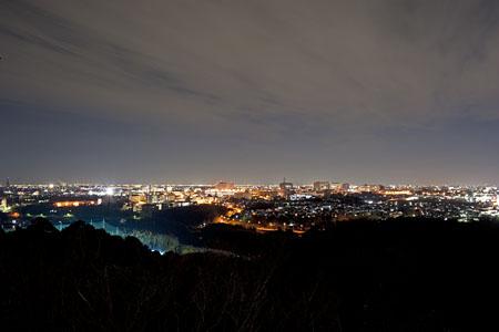 野見山展望台の夜景
