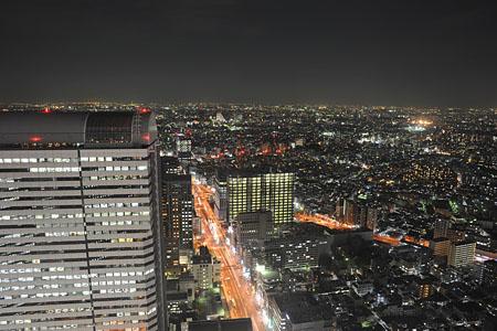 新宿野村ビル 展望ロビーの夜景