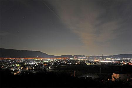 範茂史跡公園の夜景