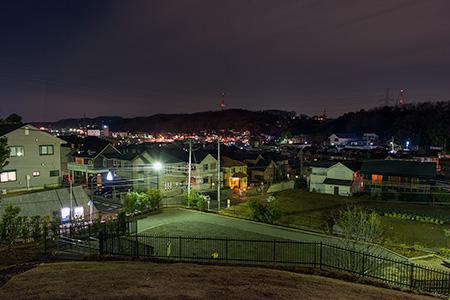 野津田山王見晴らし公園の夜景