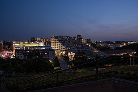 横浜国際プール のぞみ橋の夜景