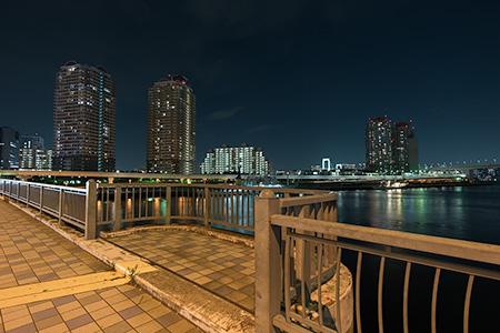 のぞみ橋の夜景