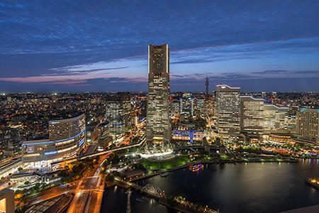 オークウッドスイーツ横浜(ザ・タワー横浜北仲)展望台の夜景