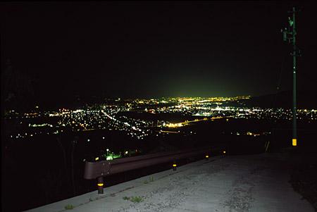 姨捨SA付近の夜景