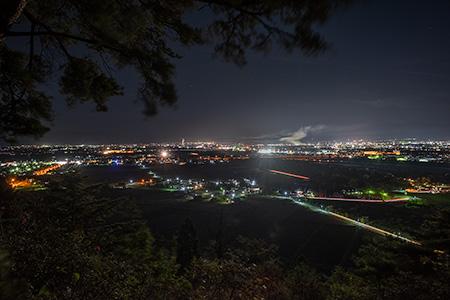 白鳳山公園 お茶屋場跡の夜景