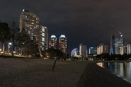 お台場海浜公園 おだいばビーチの夜景