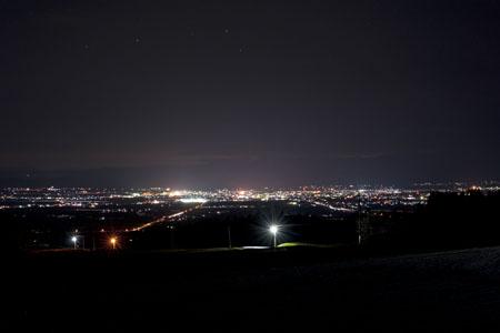 雄国萩平駐車場の夜景