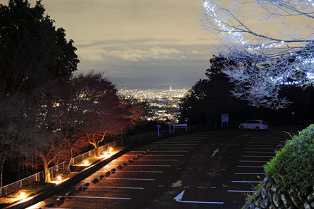 小倉山展望台 嵐山高雄パークウエイの夜景