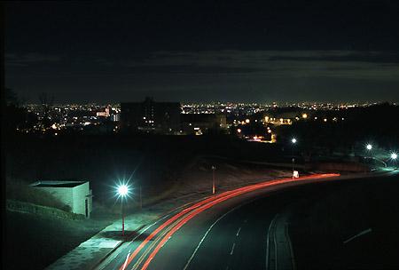 岡崎中央総合公園の夜景