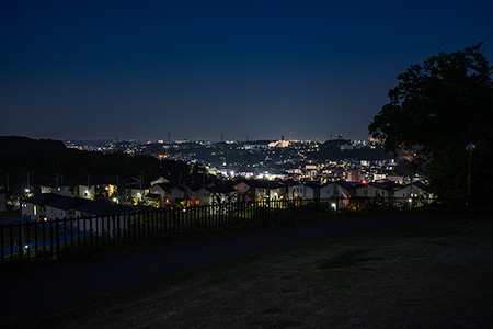 堀之内沖ノ谷戸公園の夜景
